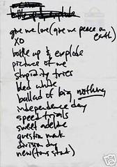 Elliott Smith setlist
