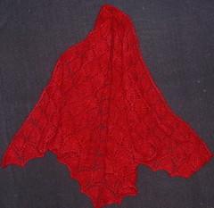 leaf lace shawl