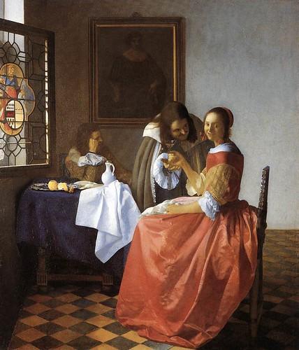 La muchacha con el vaso de vino Vermeer