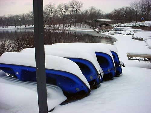 Blue Boats N Snow 127