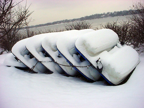 Blue Boats N Snow 132