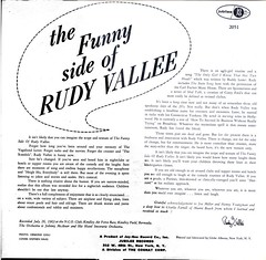 Rudy Vallee LP (The Funny Side of Rudy Vallee) (1964) back