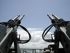 Guns on USS Lexington