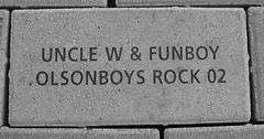 Olsonboys brick in Olympic Plaza