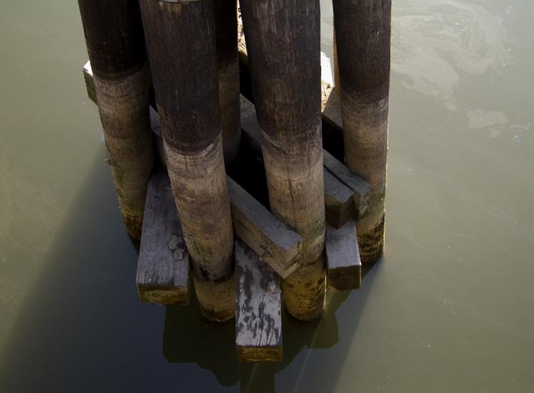 pilings, gowanus canal