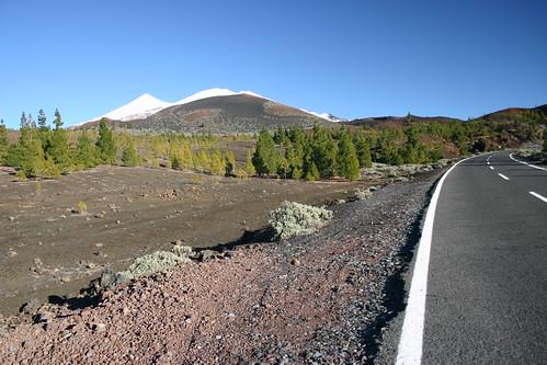 Leaving impressive El Teide going west along TF-38
