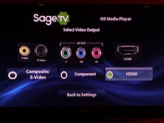 SageTV HD Theater Setup
