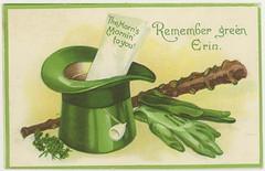 Erin-go Braugh St. Patricks Day Irish American Postcard 29