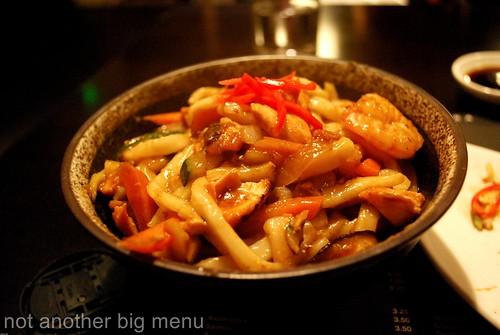 Seafood udon £6.75
