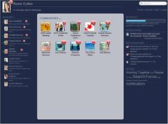 Open Text Social Media home screen