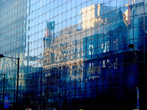 Reflection of the Printworks, Manchester