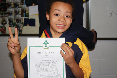 Dib dib dob dob - he's a Cub Scout now