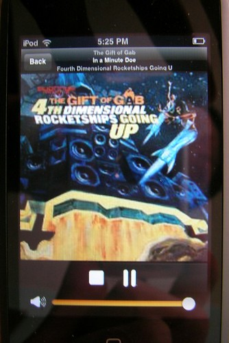 iPhone app displaying cover art from Last.FM