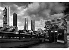 Four Towers Business Area CTBA from Chamartin Station… ¡En Directo! photo by B'Rob
