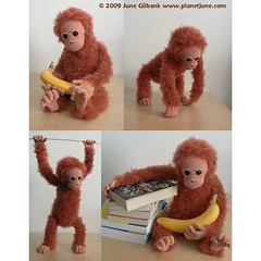 crochet baby orang utan photo by planetjune