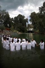 Baptism in the River Jordan photo by ! . © Angela Lobefaro . !