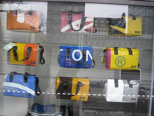 freitag bags made from recycled signs