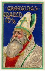 Wonderful Artwork!  St. Patricks Day Irish American Postcard 7