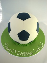 soccer ball cake photo by cakeladycakes
