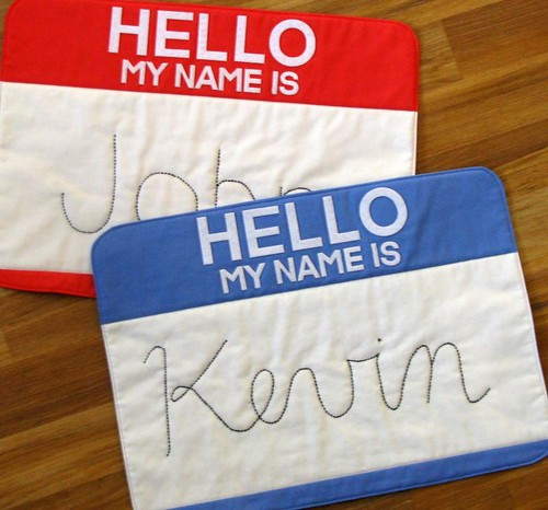 Nametag placemats