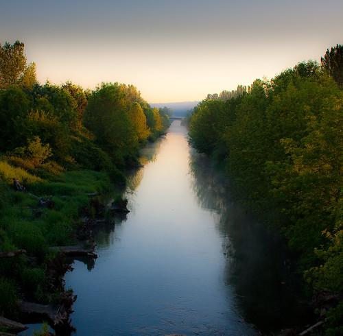 Looking north along the Sammamish River