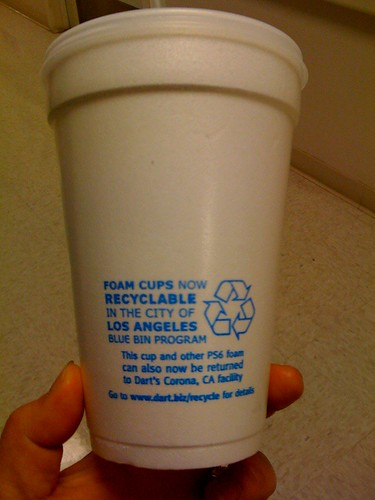 recyclable styrofoam.