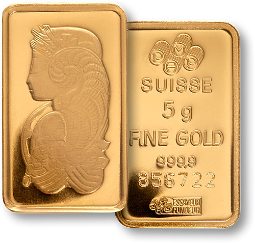 Credit Suisse 5g Gold Bullion