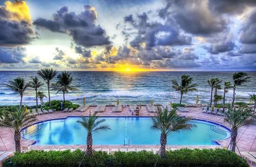 pool by the ocean