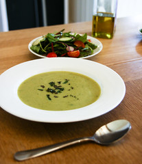Dinner: Broad Bean and Mint Soup
