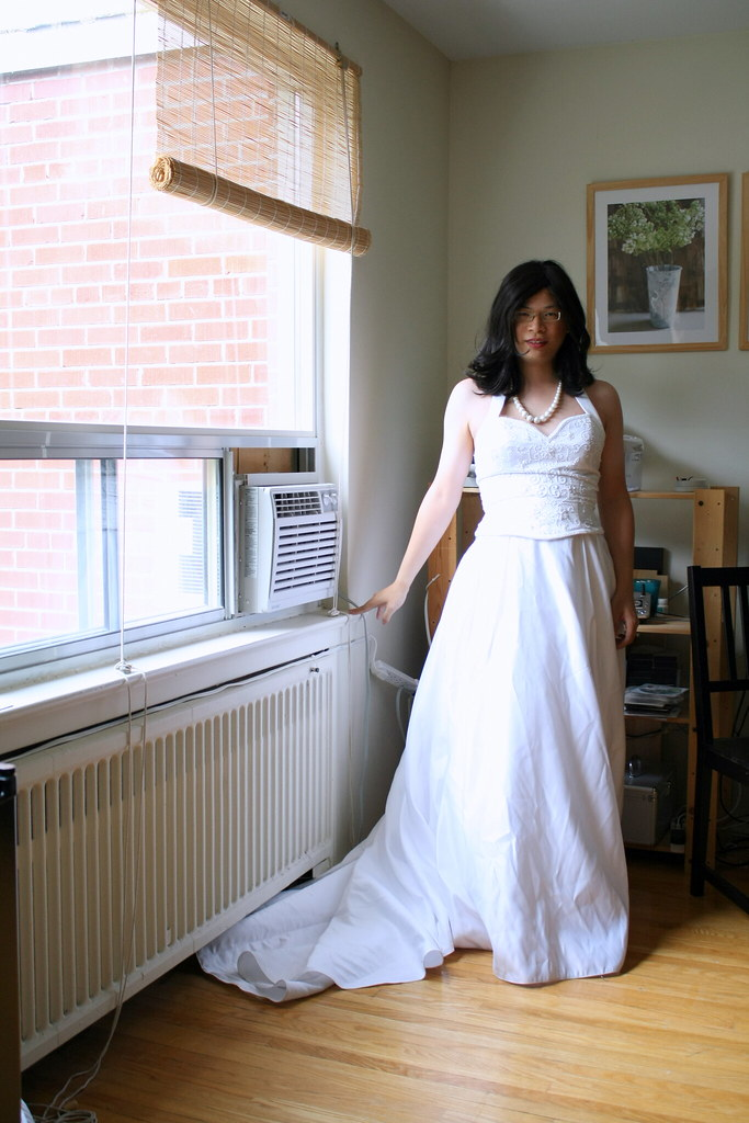 Kate in her Wedding Dress photo by tgirl-katie