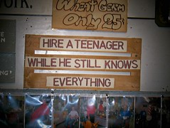 Hire a teenage while he still knows everything photo by Will S.