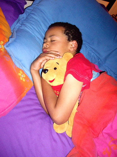 Asleep with Pooh