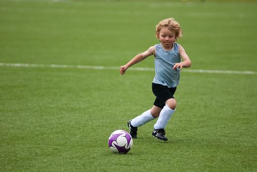 Jan voetbalt!