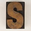wood type letter S