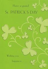 St- Patrick's Day postcard
