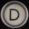 typewriter key letter D