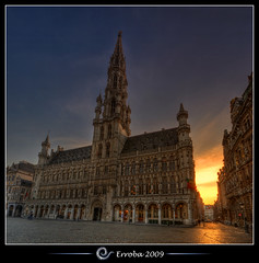 City hall @ Grand place, Brussels, Belgium :: HDR :: Vertorama photo by Erroba