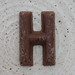 chocolate letter H
