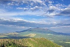 San Francisco Peaks from Kendrick Mountain Fire Lookout Tower photo by Al_HikesAZ