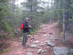 Dad on the trail