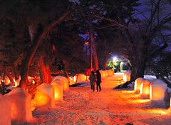 Snow Lantern Festival. (Hirosaki Japan). © Glenn Waters.. Over 17,000 visits to this photo.  Thank you. photo by Glenn Waters ぐれんin Japan.