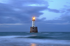 Rattray Head lighthouse in the gloaming, Aberdeenshire, Scotland photo by iancowe