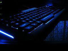 Blue Light Keyboard photo by Tektum