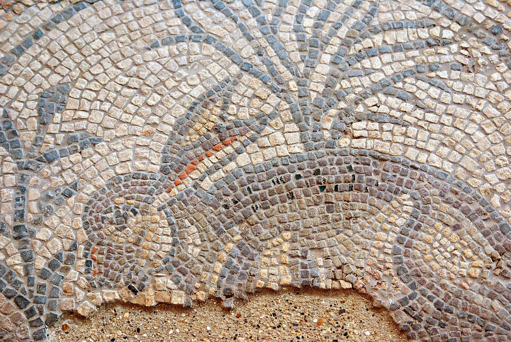 Hare mosaic detail
