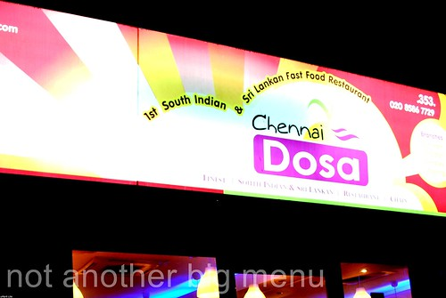 Chennai Dosa shop sign