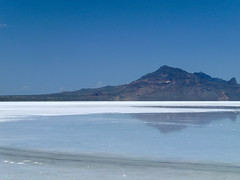 Bonneville Salt Flats after recent rain