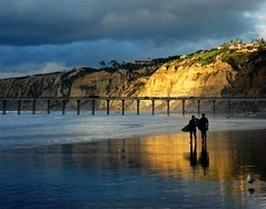 Rain or Shine Surfers Make Their Rounds, Torrey Pines Cliffs, San Diego, California photo by moonjazz