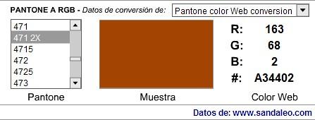 conversor RGB - Pantone