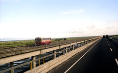 Pantranco M.A.N (fleet No 1014) north bound on the North Luzon Expressway north of Manila, Philippines. photo by express000