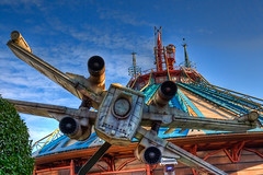 DLP Feb 2009 - X-Wing on Space Mountain Attack Run photo by PeterPanFan